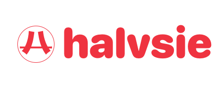 Halvsie Logo - Red on Transparent